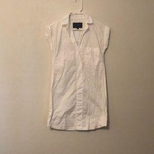 J Crew white shirt dress XXS